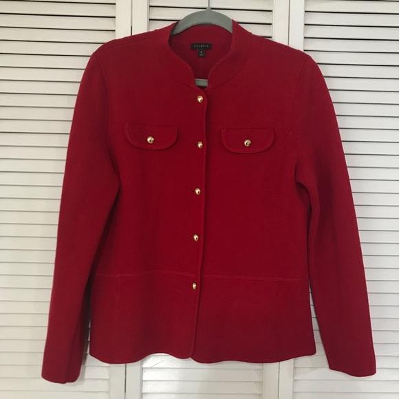 Talbots Jackets & Blazers - Talbots Red Knit Blazer